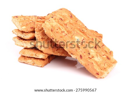 Peanut Cookies on white background