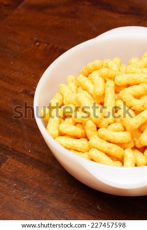 Peanut flips served in a white bowl - stock photo