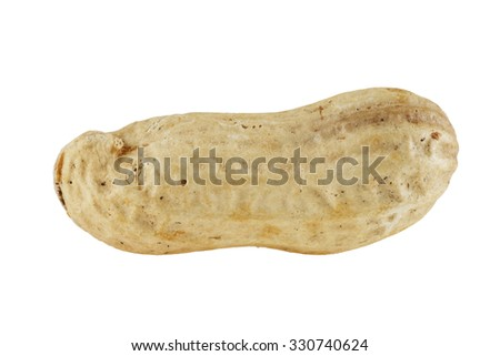 peanut in increase isolated on white background - stock photo