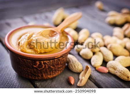 peanuts butter - stock photo