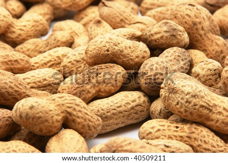peanuts in shells - background - stock photo