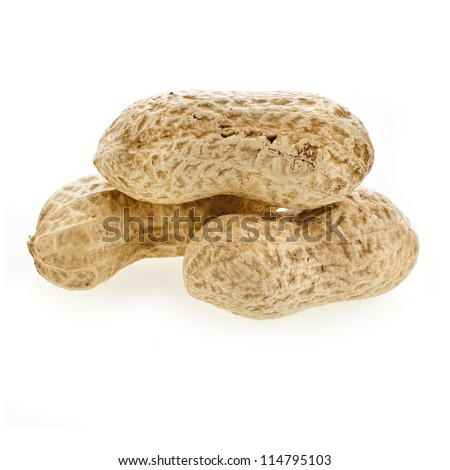 peanuts in the shell on a white background