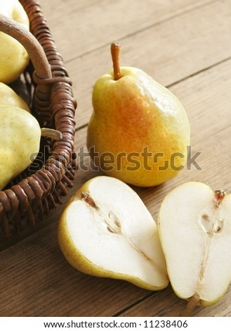 pear halves - stock photo