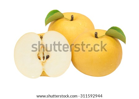 Pear isolated on white background. - stock photo