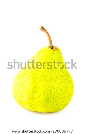 Pear isolated white background