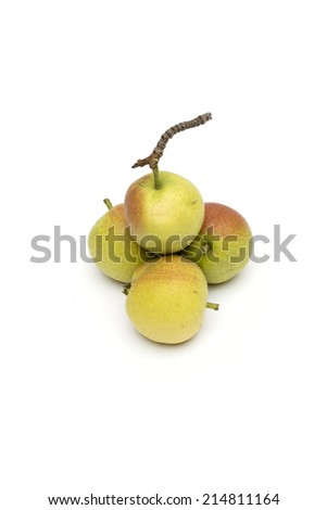 pear on the white background