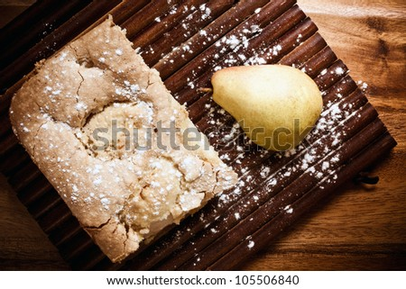 Pear pie - stock photo