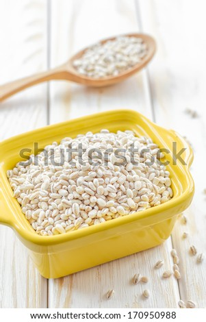 Pearl barley - stock photo