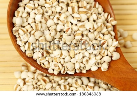 Pearl barley isolated on white  - stock photo