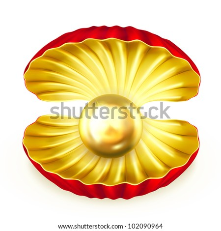 Pearl gold, bitmap copy - stock photo
