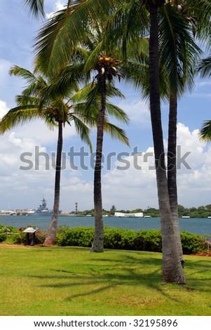 Pearl Harbor Memorial, O'ahu, Hawaii - stock photo