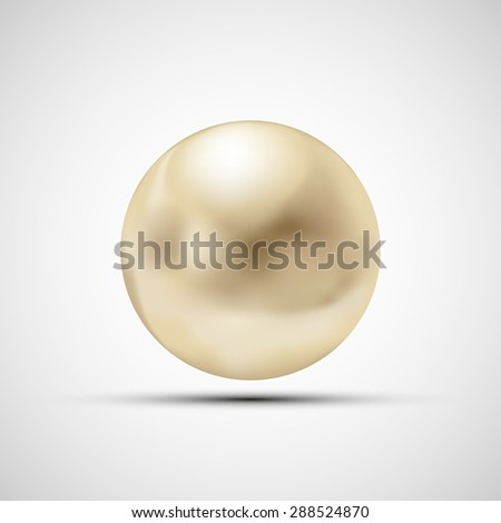 Pearl isolated on a white background. Stock image. - stock photo