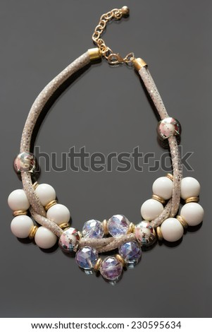 pearl necklace.  - stock photo