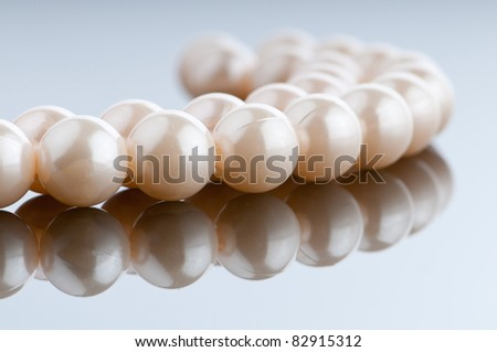 Pearl necklace in fashion and beauty concept - stock photo