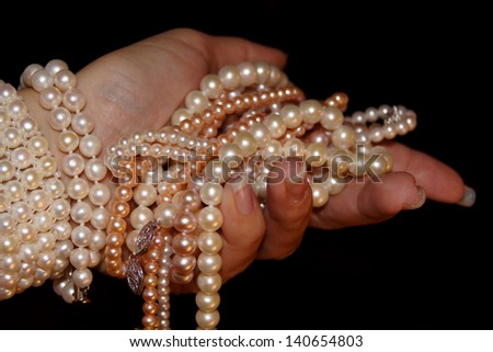 Pearls in hand