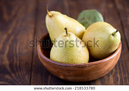 Pears in the bowl - stock photo