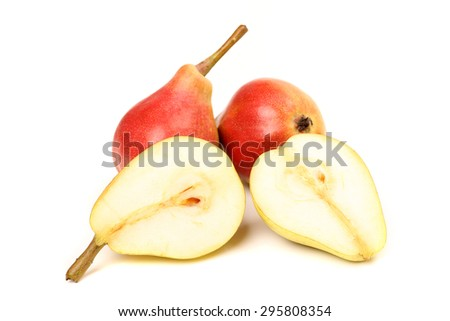 pears isolated  - stock photo