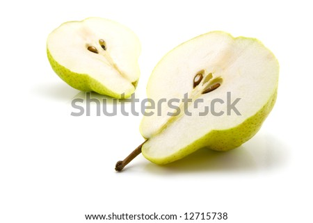 Pears isolated on the white background - stock photo
