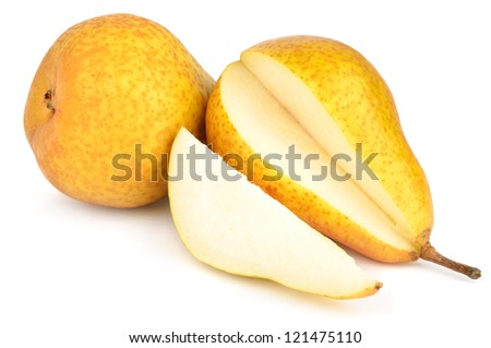 Pears isolated on white - stock photo