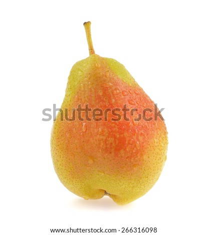 pears isolated on white background - stock photo