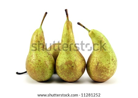 Pears on a white background.