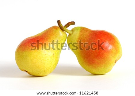 Pears studio isolated on white background