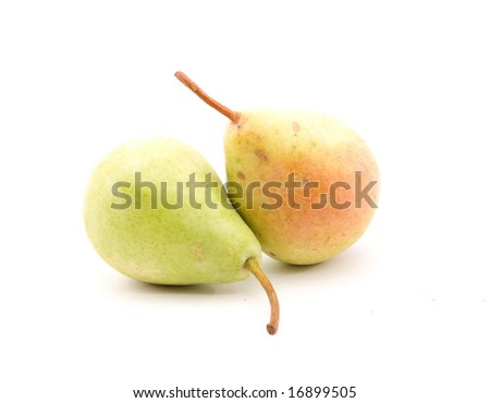 pears studio isolated over white