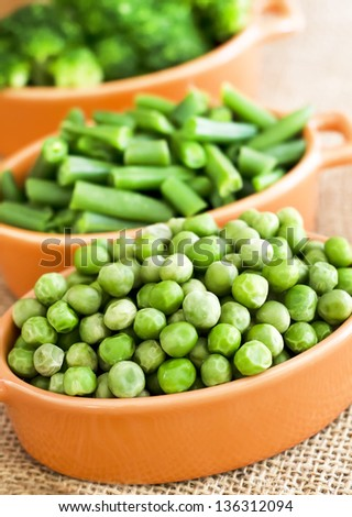 peas and beans - stock photo