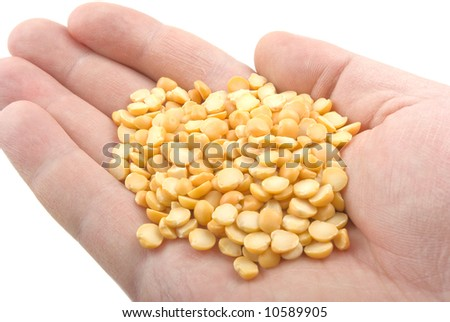 peas in the hand