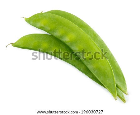 peas isolated on the white background