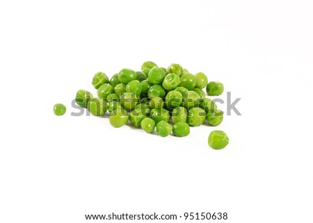 Peas on white - stock photo