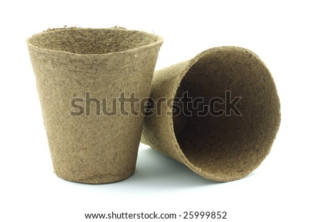 Peat pots - stock photo