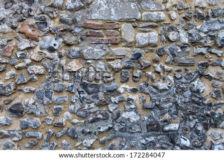 Pebbel wall , background texture