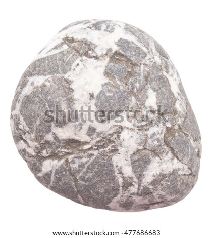 pebble isolated on white background