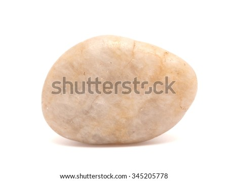 pebble on a white background - stock photo