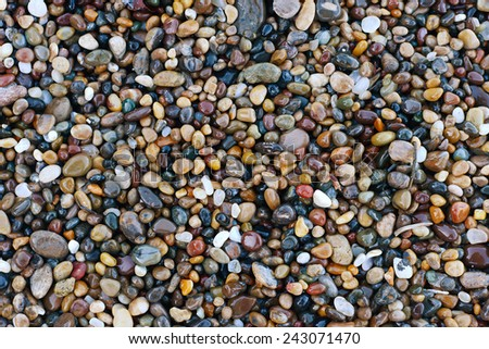 pebble rocks from bean hollow state beach in california - stock photo