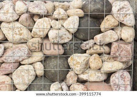 Pebble Stone and River Background