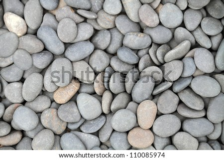 Pebble stone background (texture) - stock photo