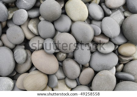 Pebble stones in different shapes - stock photo