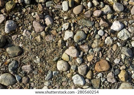 Pebble Stones Texture Background - stock photo