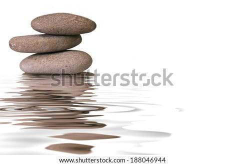 pebble zen - stock photo