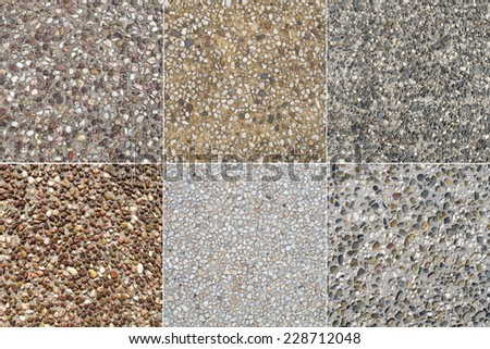 Pebbled Concrete 2 - stock photo