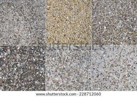 Pebbled Concrete 1 - stock photo