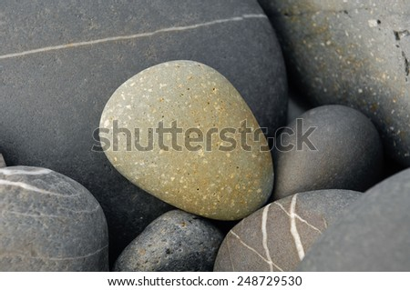 pebbles background - stock photo