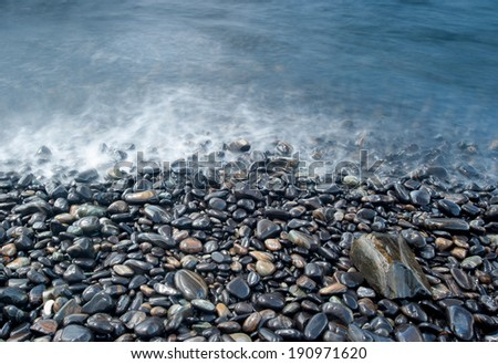 Pebbles beach, Koh Hin Ngam, Andaman Sea, Thailand - stock photo