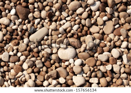 Pebbles close up