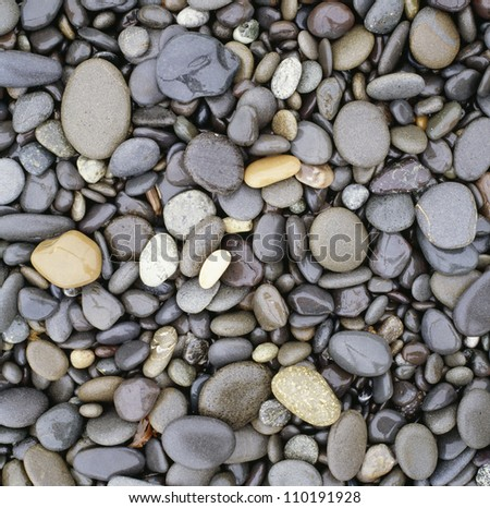 Pebbles, elevated view