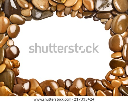 Pebbles frame - stock photo