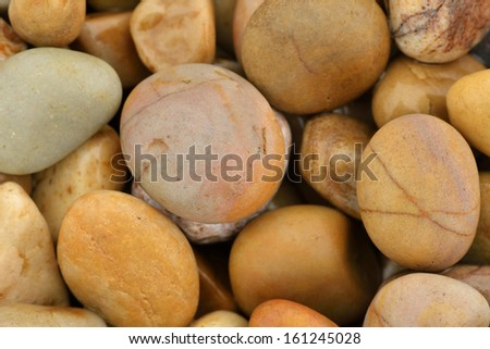 Pebbles on beach  - stock photo
