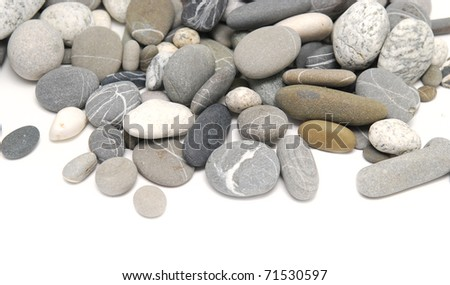 pebbles over white background - stock photo
